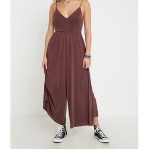 Silence + Noise Molly Cupro Culotte Jumpsuit  Med